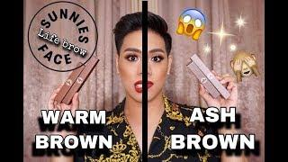 SUNNIES FACE LIFE BROW PRODUCTS (feat. the shades warm brown and ash brown)