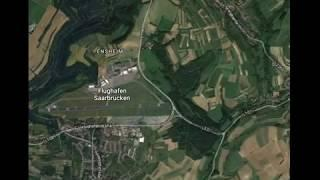 Damaged plane found on Google Maps on Saarbrücken Airport runway