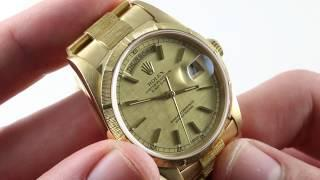 Rolex Day-Date 18248 Luxury Watch Review