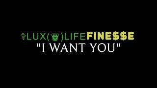 i Want You Luxlife Finesse lyric Video