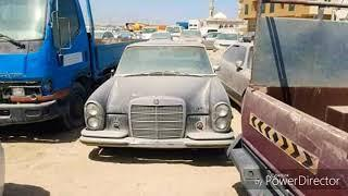 saudi people left their luxury car in work shop