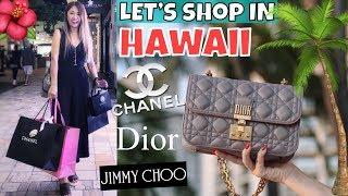 HAWAII LUXURY SHOPPING VLOG - Part 1 | CHANEL, DIOR, Sightseeing & Eating