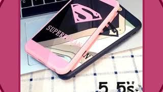 Luxury Superman Superwoman Case For Iphone 5 5S Se