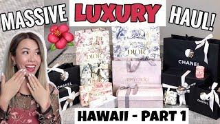 MASSIVE LUXURY HAUL/UNBOXINGS - CHANEL, DIOR, JIMMY CHOO | HAWAII PART 1
