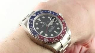 "Rolex GMT Master II ""Pepsi"" 116719BLRO Luxury Watch Review"