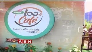 GHMC Launches Luxury washroom LooCafe launched at Hitech City | ABN Telugu