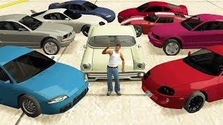 GTA San Andreas - Stealing Luxury Cars with CJ! (Expensive Real Cars)