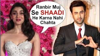 Alia Bhatt's FUNNY Reaction On Marriage With Ranbir Kapoor At Lux Gold Awards 2018