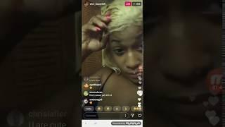 SHER LUXURY DOLL PUTS HER WIG IN HER FRIDGE TO KEEP THE MOISTURE IN INSTAGRAM LIVE