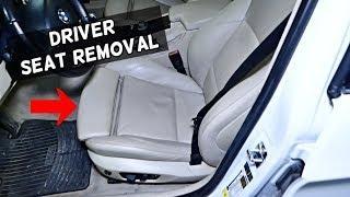HOW TO REMOVE OR REPLACE FRONT LEFT DRIVER SEAT BMW E90 E91 E92 E93