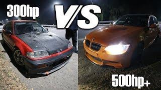 БЕЗ КУПЮР №70 HONDA CIVIC ED6 300HP ПРОТИВ АПЕЛЬСИНЧИКА BMW E90 335i 500HP+
