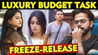 FREEZE RELEASE TASK | Family Entry | Luxury Budget Task | Bigg Boss 12 Update