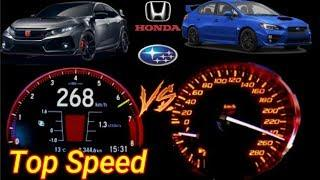 Subaru WRX STI (300hp) VS Honda Civic Type R (320hp) - Acceleration