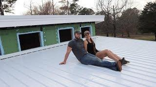OUR SHIPPING CONTAINER HOME ROOF IS DONE!