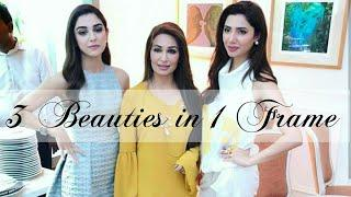 Reema Khan ' Mahira Khan & Maya Ali 3 Beauties in 1 Frame at the Launch of  Latest Lux Campaign 2018
