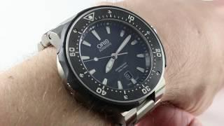 Oris Prodiver Date 733 7682 7154-07 8 26 75PEB Luxury Watch Review