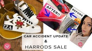 CAR ACCIDENT RANT/UPDATE + HARRODS SALE FIND | Sophie Shohet