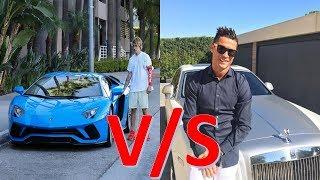 Cristiano Ronaldo's Luxury Cars VS Justin Bieber's Luxury Cars: Who has the best Car Collection?