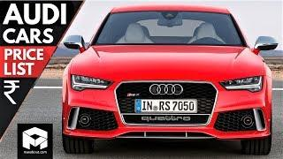 Audi Cars Price List in India [2018]
