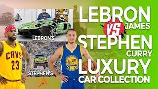 LEBRON JAMES VS. STEPHEN CURRY'S LUXURY CAR COLLECTION   Who Has more Amazing Cars?