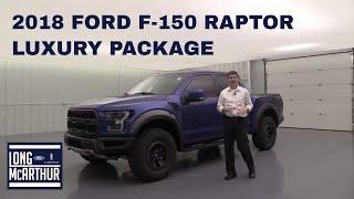 2018 FORD F-150 RAPTOR LUXURY PACKAGE 18479A