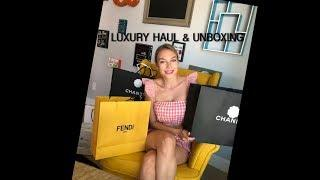 LUXURY HAUL & UNBOXING - Chanel, Fendi, Prada.. Filming with SamsungGalaxyS9plus