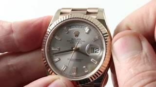 Pre-Owned Rolex Day-Date 40 228235 (EVEROSE) Luxury Watch Review