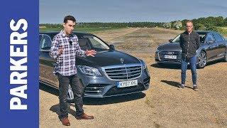 Audi A8 vs Mercedes-Benz S-Class | Which is the ultimate executive limo? FEAT. DRAG RACE