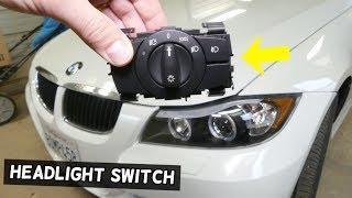HOW TO REMOVE AND REPLACE HEADLIGHT SWITCH ON BMW E90 E92 E91 E93