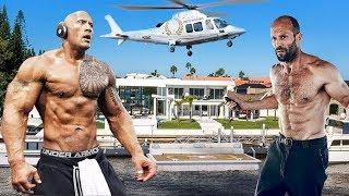 The Rich Life Of THE ROCK vs JASON STATHAM 2018 | Top TV