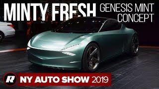 Genesis Mint concept is city-based luxury electric vehicle | New York Auto Show 2019