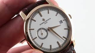 Vacheron Constantin Traditionnelle 81172 Luxury Watch Reviews