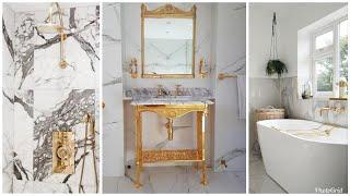 GOLD & MARBLE LUXURY GLAM BATHROOM IDEAS TOUR 2019 | HOME DECOR INSPO