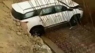 Latest Car Accident of Toyota Fortuner in India