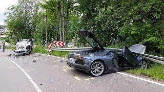 LUXURY CARS and SUPERCARS - CRASH COMPILATION 2018豪车事故合集,心疼车车 高清