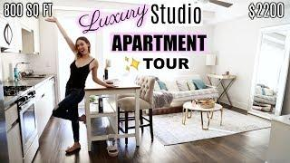 MY LA LUXURY STUDIO APARTMENT TOUR! + Amenities | $2200 / 800 SQ FT