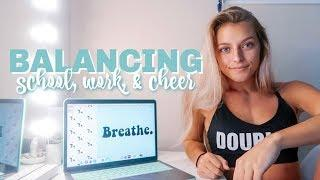 VLOG: balancing school, work, & cheer
