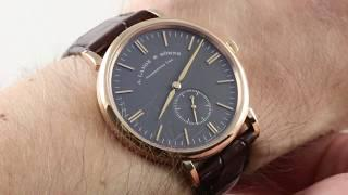 A. Lange & Sohne Saxonia Boutique Edition 216.033 Luxury Watch Review