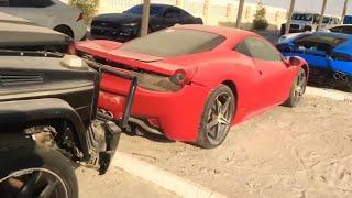 ABANDONED SUPERCARS  IN DUBAI|ferrari,Lamborghini, gtr skyline r34|