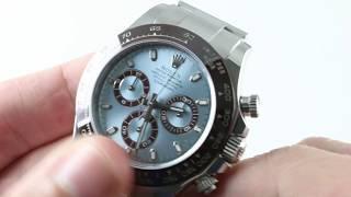 Rolex Daytona (PLATINUM/ANNIVERSARY) 116506 Daytona  Luxury Watch Review