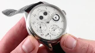 IWC Portuguese Perpetual Calendar IW5021-11 Luxury Watch Review
