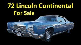 BARN FIND LINCOLN CONTINENTAL FOR SALE 460 VB LUXURY COUPE VIDEO