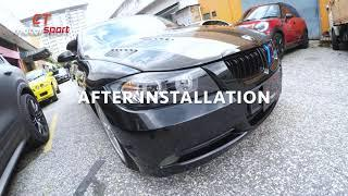BMW E90 Pre LCI install E90 Angel Eyes Head Lamp Projector