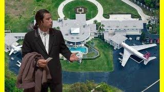 John Travolta House Tour $12000000 Mansion With Airstrip Luxury Lifestyle 2018