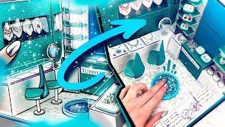 DIY Miniature DollHouse Room ~ Tiffany & Co. Luxury Jewelry Shop | Decor ????