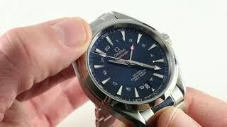 Omega Seamaster Aqua Terra GMT 231.10.43.22.03.001 Luxury Watch Review