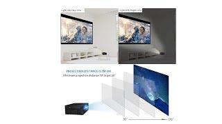 Portable Movie Projector 2500 Lux with LED Lamp Life