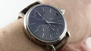IWC Portofino Monopusher Chronograph 8-Day IW5151-03 Luxury Watch Review