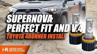 Supernova PerfectFIT and V.4 LED Headlight Bulbs for the Toyota 4Runner