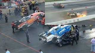 Drag Racing NHRA Funny Car Top Fuel  John Force CRASH